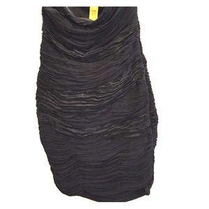 Catherine Malandrino Strapless Black Ruched Dress